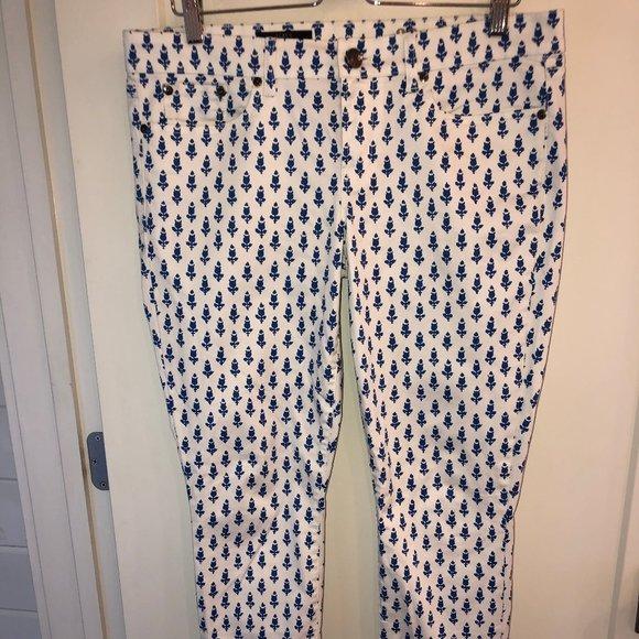 J.Crew Matchstick print jeans sz 32 ankle NWOT